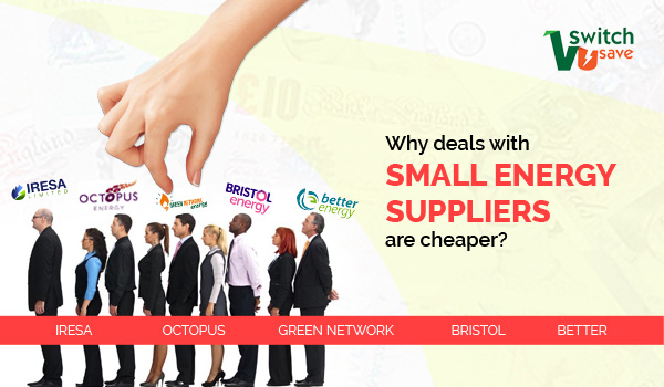 Why deals with small energy suppliers are cheaper?